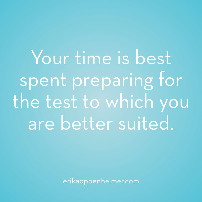 Your time is best spent preparing for the test to which you are better suited. // erikaoppenheimer.com // How to choose between the SAT & ACT